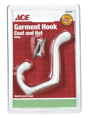 Ace Medium Heavy Duty Coat and Hat Hook 3 in. L Metal 1 pk
