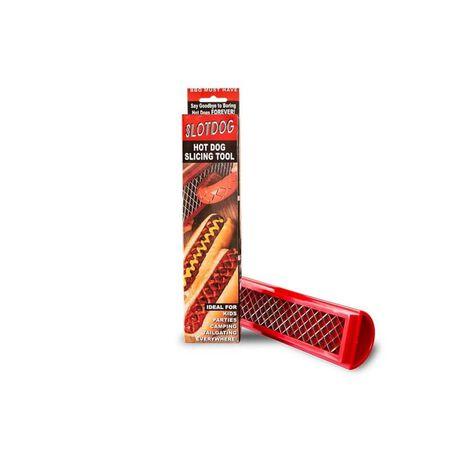 Slotdog 2.62 in. W x 11 in. L Red Plastic/Stainless Steel Hotdog Scorer