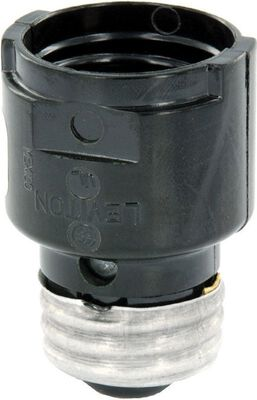 Leviton 660 watts 250 volts Socket Extender Black