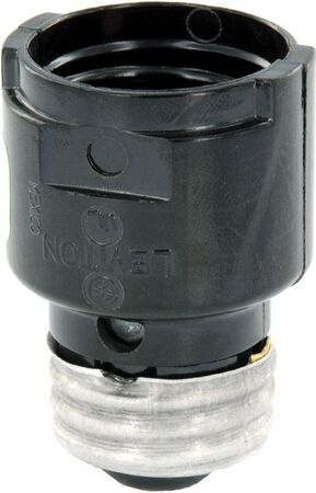 Leviton 660 watts 250 volts Socket Extender Black