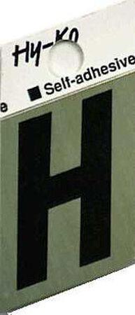 Hy-Ko Self-Adhesive Black 1-1/2 in. Aluminum Letter H