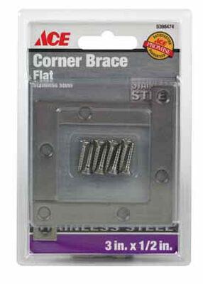 Ace Inside Corner Brace 3 in. x 1/2 in. Stainless Steel
