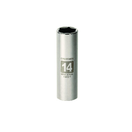 Craftsman 14 mm x 3/8 in. drive Metric 6 Point Deep Socket 1 pc.