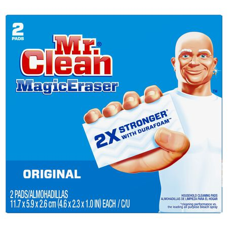Mr. Clean For Multi-Purpose Magic Eraser 2.4 in. W x 4.6 in. L 2 pk