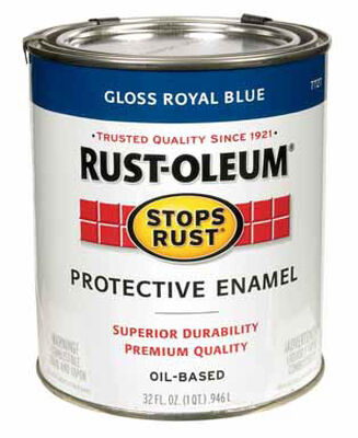 Rust-Oleum Indoor and Outdoor Oil Based Protective Enamel Royal Blue Gloss 1 qt.