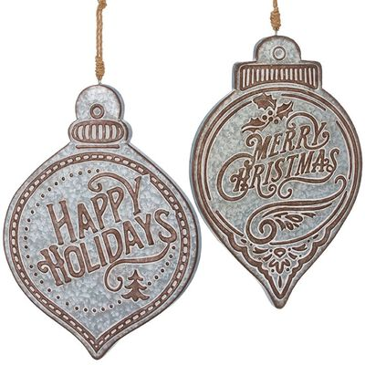 """20.5"""" Merry Christmas and Happy Holidays Ornament"""