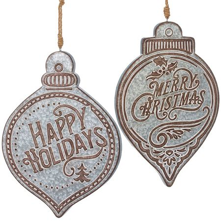 "20.5"" Merry Christmas and Happy Holidays Ornament"