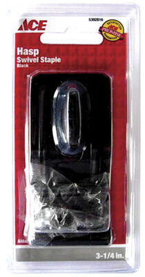 Ace Black Steel Swivel Staple Safety Hasp 3-1/4 in. L
