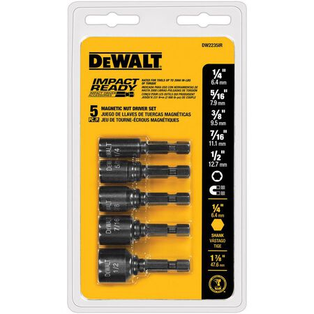 "5 Pc. Magnetic Nut Driver Set (1/4"", 5/16"", 3/8"", 7/16"", 1/2"") - IMPACT READY(R)"