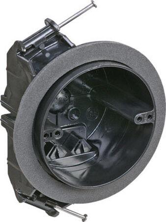 Carlon 3-1/4 in. H Round 4 Gang Electrical Box Black Plastic