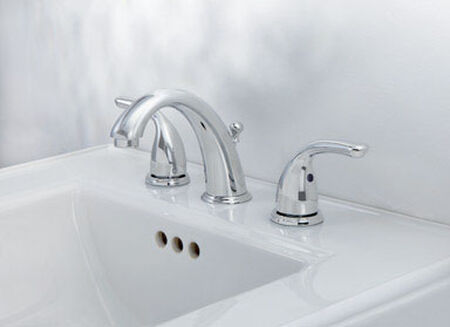 OakBrook Coastal Widespread Lavatory Pop-Up Faucet Widespread in. Chrome