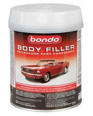 Bondo Auto Body Filler 1 qt. For Metal Wood Masonry & Fiberglass