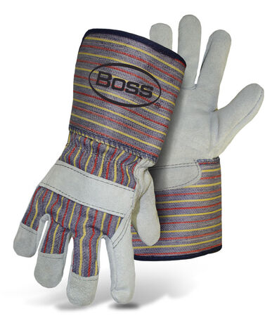 Glove Leather Split Palm L w/