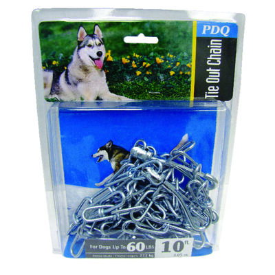 PDQ Steel Tie Out Chain 10 ft. L For Up to 60 Pounds