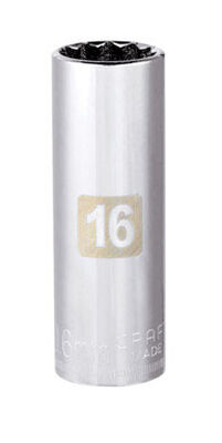 Craftsman 16 Alloy Steel Deep Socket 3/8 in. Drive in. drive
