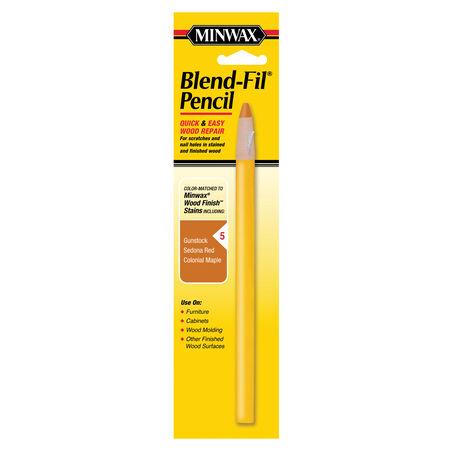 Minwax Blend-Fil No. 5 Colonial Maple, Gunstock, Sedona Red Wood Pencil 1 oz.