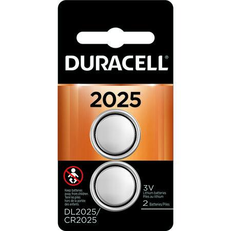 Duracell 2025 Lithium Keyless Entry Battery 3 volts 2 pk