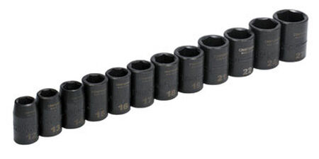 Craftsman Metric 12 pc. Steel 1/2 in. Drive Impact Socket Set