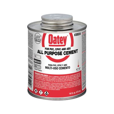 Oatey Clear PVC/CPVC All-Purpose Cement 16 oz.