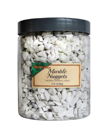 Mosser Lee White Decorative Stone Marble Nuggets 5 lb.