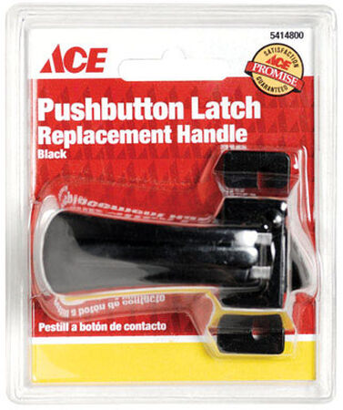 Ace Interior Steel Black Push Button Latch Replacement
