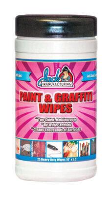 Jack Paint & Graffiti Cleaning Wipes 5-1/2 in. W x 10 in. L 25 pk