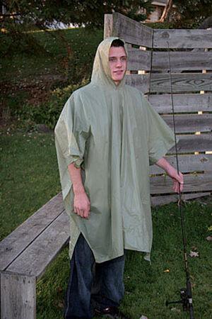 Boulder Creek Green Vinyl Rain Poncho