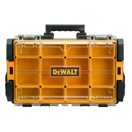DeWalt ToughSystem Organizer with Clear Lid 22 in. L Plastic Black/Yellow