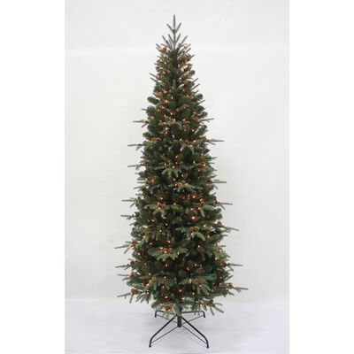 Celebrations 7 ft. Multicolored Prelit Lexington Slim Artificial Tree 400 lights
