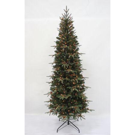 Celebrations 7 ft. Multicolored Prelit Lexington Slim Artificial Tree 400 lights