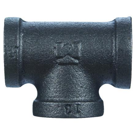 B & K 1/2 in. Dia. x 1/2 in. Dia. x 1/2 in. Dia. FPT To FPT To FPT Black Malleable Iron Tee