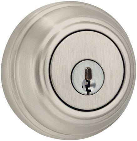 Weiser Satin Nickel Single Cylinder Smart Key Deadbolt 1-3/4 in. For All Standard Doors Key: K4