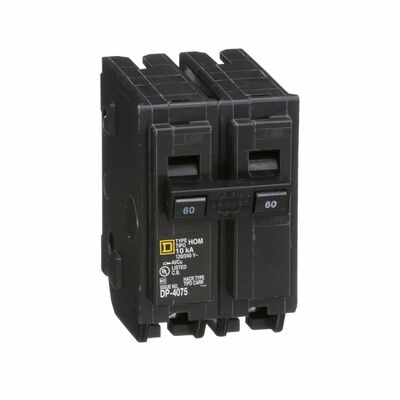 Square D HomeLine Double Pole 60 amps Circuit Breaker