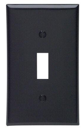 Leviton 1 gang Black Nylon Toggle Wall Plate 1 pk