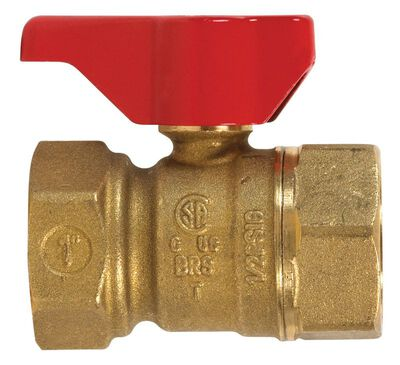 B & K Gas Ball Valve 1 in. FPT Brass Two Piece