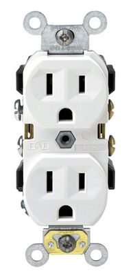 Leviton Electrical Receptacle 15 amps 5-15R 125 volts White