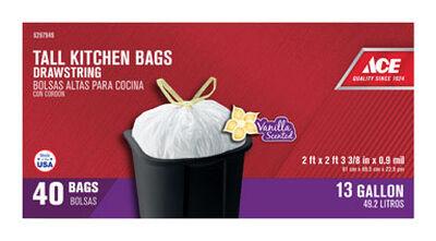 Ace 13 gal. Tall Kitchen Bags Drawstring 40 pk
