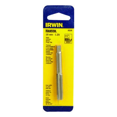 Irwin Hanson High Carbon Steel 10mm-1.25 Metric Plug Tap 1