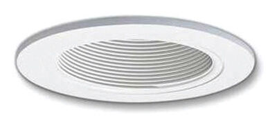 Halo 4 in. W White White Plastic LED 4 in. Recessed Baffle and Trim