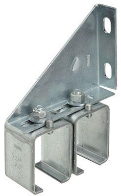 Stanley Steel Double Box Rail Splice Brackets 5-3/4 in. W x 2 L 1