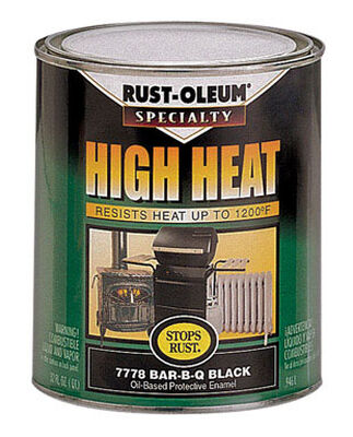 Rust-Oleum Black High Heat Enamel 1 qt.