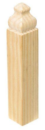 Alexandria Moulding Baseboard Trim Block Pine 6-1/2 in. H x 1-1/8 in. W x 1 in. D