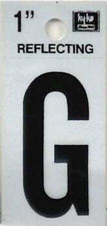 Hy-Ko Self-Adhesive Black Reflective Vinyl Letter G 1 in.