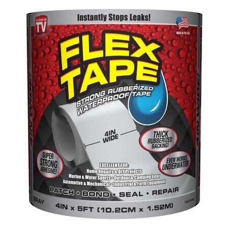 Flex Tape As Seen On TV 4 in. W x 5 ft. L Waterproof Repair Tape No Gray