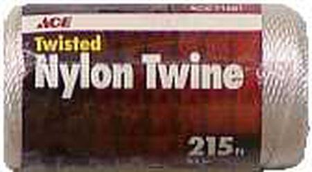 Ace 21 in. Dia. x 215 ft. L Twisted Nylon Mason Line White