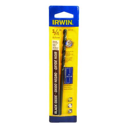 Irwin Aircraft Extension 1/4 in. Dia. x 6 in. L Black Oxide Split Point Drill Bit