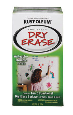 Rust-Oleum Interior Latex Dry Erase Paint Kit White Gloss 27 oz.