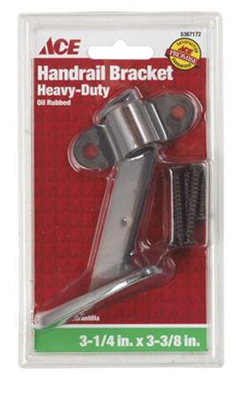 Ace Bronze 3-3/8 in. Oil-Rubbed Heavy Duty Hand Rail Bracket