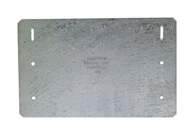 Simpson Strong-Tie Galvanized Steel Nail Plate Zmax 8 in. H x 5 in. W 16 Ga.