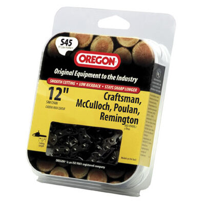 Oregon Chainsaw Chain 45 links 12 in. For Craftsman McCulloch Poulan Remington 91 Low Profile